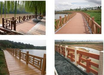 中山水泥仿木栏杆设计安装施工制作