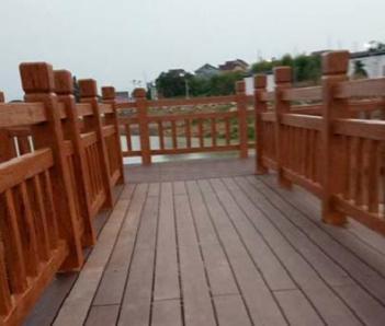 中山水泥假山假树制作厂家 中山水泥仿木栏杆施工