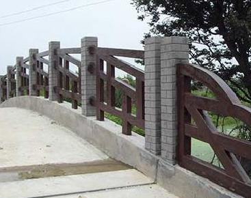 中山水泥仿木栏杆造型美观