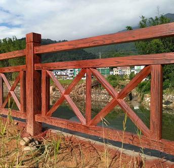 中山水泥仿石护栏水泥仿木栏杆厂家直销