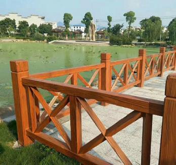中山水泥仿木栏杆施工中山制作水泥仿木栏杆
