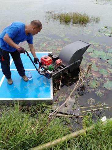 湖北池塘割草机,湖北河道碎草机,湖北河道清理机