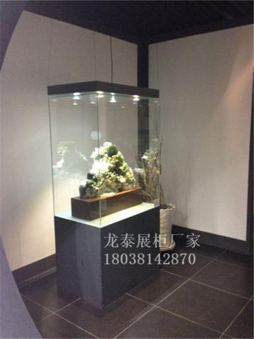 香港收藏品玉器展示柜定制艺术品嵌墙柜制作