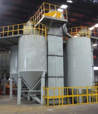 立式砂溫冷卻罐消失模砂處理生產線設備