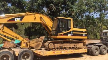 工程机械在工地施工或者出租炮机 惠州挖机出租