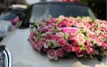 南宁鲜花配送 婚车装饰