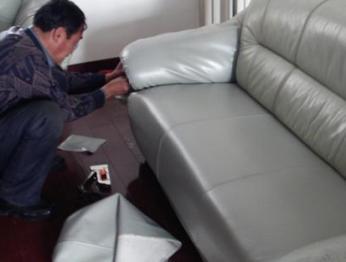 东营沙发的线修补更换海绵坐垫下沉局部换皮翻新