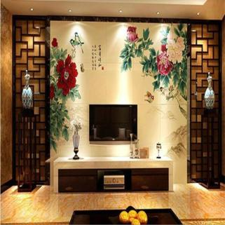 汉中玻璃电视背景墙平板印花机