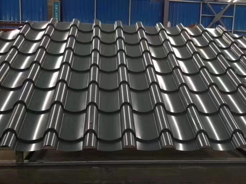 内蒙乌海铝镁锰仿古琉璃瓦828型厂家直销