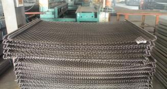 锰钢耐磨矿用筛网 轧花编织振动筛网