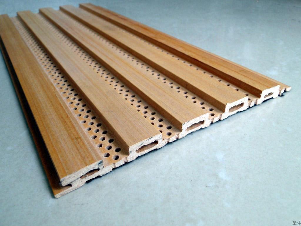 厂家直供防潮防火环保的生态木吸音板