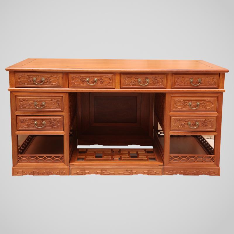 6米红木办公桌,红木办公桌