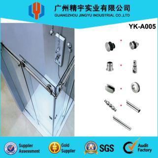 精宇实业厂家直销304不锈钢浴室玻璃移门套装