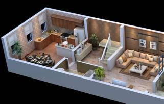 别墅3D户型图