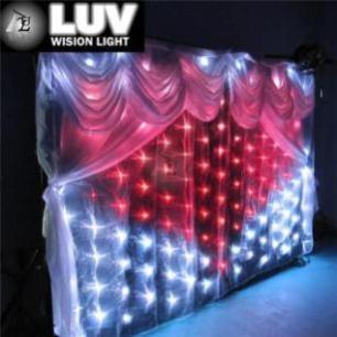 3mx6m LED婚庆单色星空幕布LED舞台防火幕