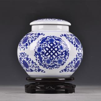 食品包装陶瓷青花罐子定做批发厂家