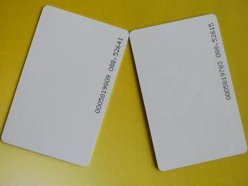 厂家定制ID薄卡,TK4100白卡