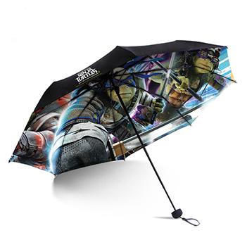 忍者神龟变色伞:双层防晒晴雨伞