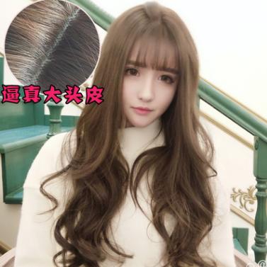 爆款娃娃假发欧美女士长卷发韩国欧美时尚外贸亚马逊化纤假发头套