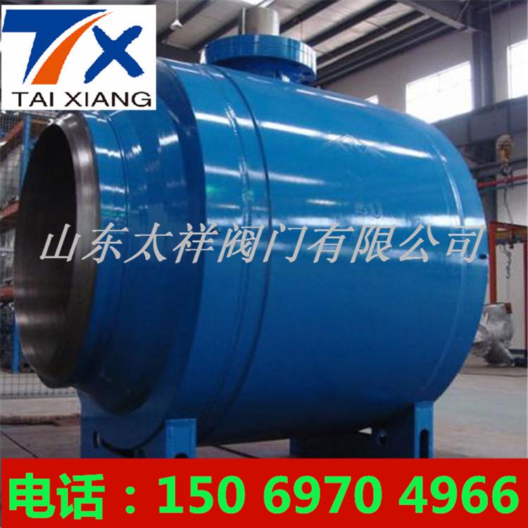 氣動焊接球閥Q361F_蝸輪浮球式全焊接球閥圖片2
