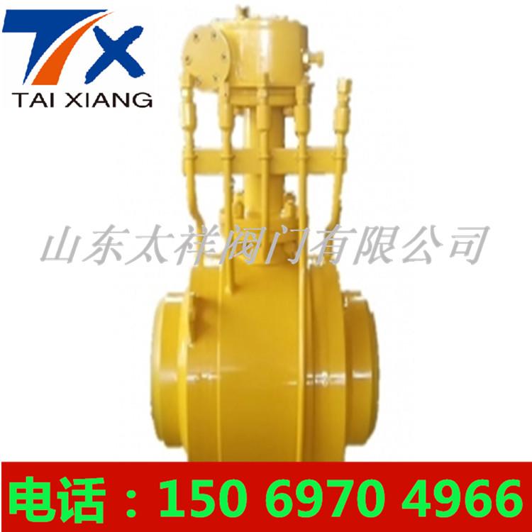 气动焊接球阀Q361F_蜗轮浮球式全焊接球阀图片5