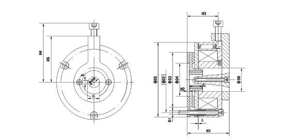 它主要于y系列电机配套成yej系列电磁制动三相异步