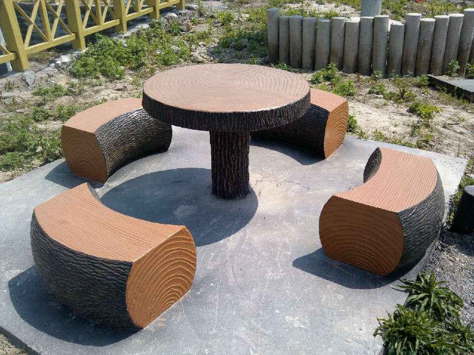仿木凳子,仿木花箱,仿木圆桌