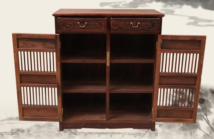 红木鞋柜,两门红木鞋柜