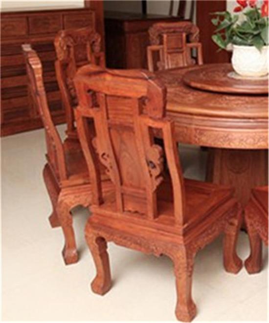 新中式家具-缅甸花梨圆台-红木家具价格-吉祥如意