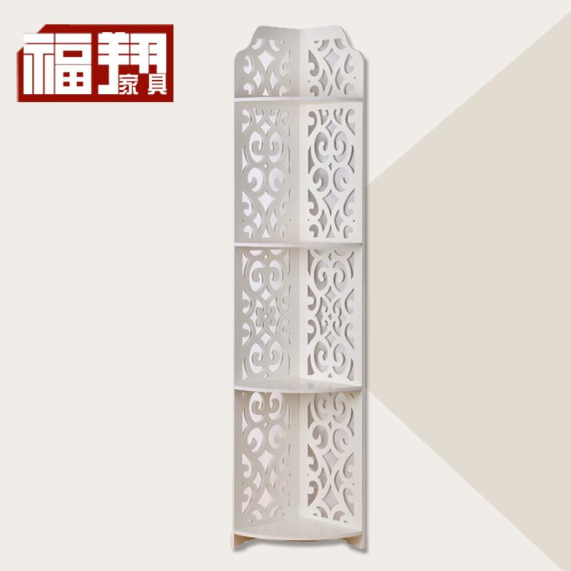 欧式4层雕花转角扇形创意三角置物架创意雕花收纳架
