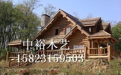 轻型木制别墅 户外木房子
