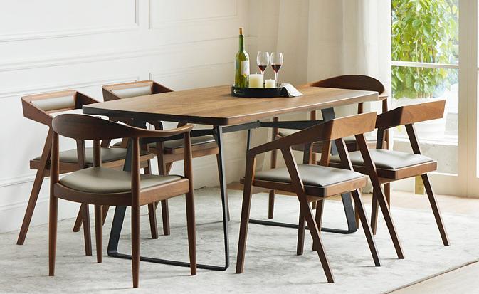 美式复古餐厅桌椅 简易办公桌椅