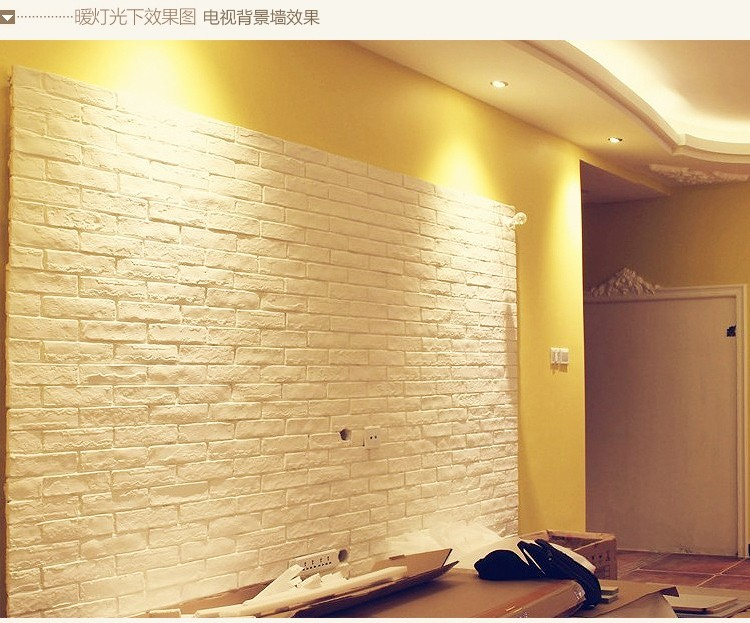 客厅白色文化砖陶瓷电视背景墙文化石瓷砖仿古砖墙砖