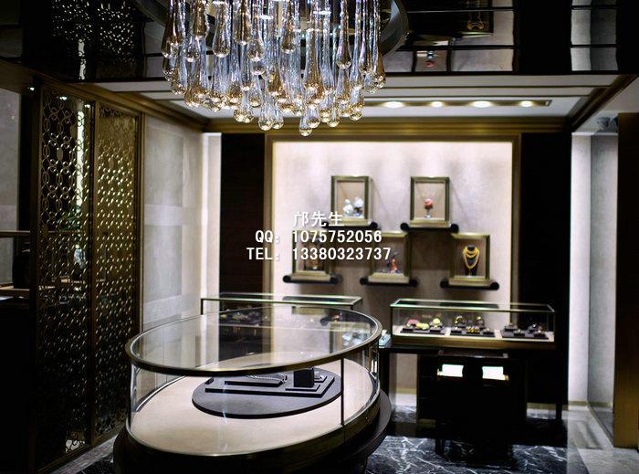 高端大气的珠宝展示柜图片,商场珠宝展柜设计,奢侈品展柜制作