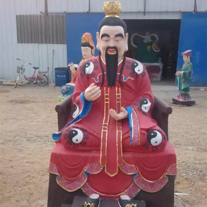 哼哈二将雕塑像 十八罗汉雕塑像 关圣帝君像