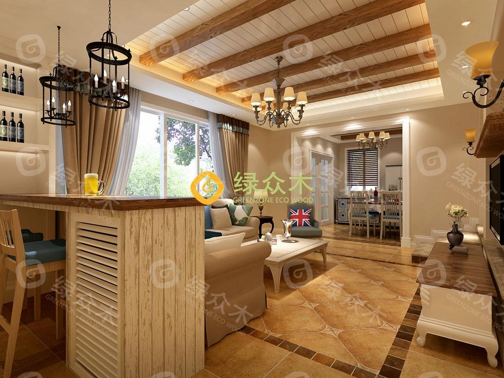欧式二级客厅集成墙面吊顶