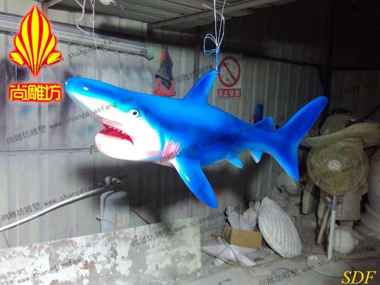 尚雕坊2016款鲨鱼雕塑 海洋动物雕塑摆件供应