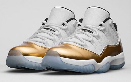 "NIKE Air Jordan 11 Retro Low ""White/Metallic Gold"" 篮球鞋于8月27日正式上市"