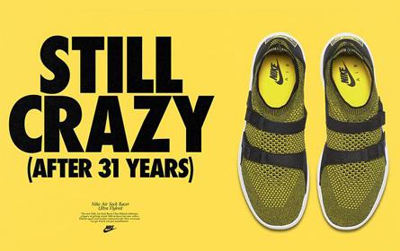 多色定制,耐克将与4月30日发售 Air Sock Racer Ultra Flyknit 跑鞋新品