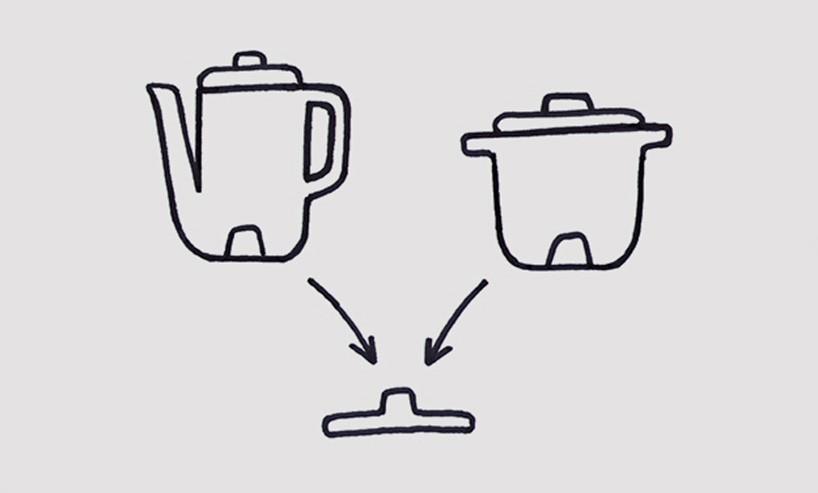 水壶产品手绘线稿