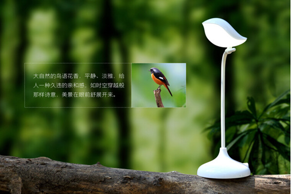 台灯与无线蓝牙音箱完美结合的鸟语灯